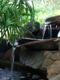 Waterfall. Pond setting waterfall stock photos
