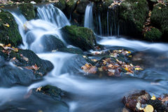 Waterfall. Small waterfall in beautiful morning light Royalty Free Stock Photography