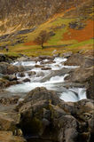 Waterfall. Motion blurred waterfall above Craflwyn in Wales Royalty Free Stock Photos