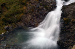 Waterfall. Motion blurred waterfall above Craflwyn in Wales Stock Photos