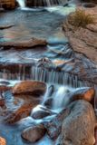 Waterfall. Small waterfalls at Sliding Rock in Arizona Royalty Free Stock Images