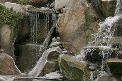 Waterfall. Landscaped outdoors water fall on a cold day Royalty Free Stock Photos