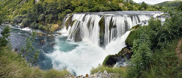 Waterfall. S Strbacki buk in Croatia about 15 m tall Royalty Free Stock Images