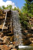 Waterfall. A close up on a waterfall in a garden Royalty Free Stock Photos