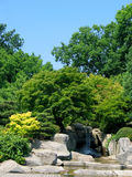 Waterfall. In japanese garden Royalty Free Stock Photography