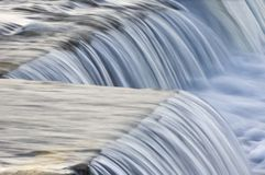 Waterfall. Small waterfall on cold morning Royalty Free Stock Photography