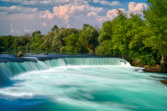 Waterfall. Spring waterfall Manavgat in Turkey Royalty Free Stock Photos