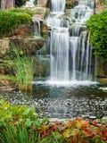 Waterfall. Beautiful water cascade at London's Kew Gardens Royalty Free Stock Image