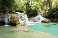 Waterfall. Kuang Si Waterfall, Luang prabang, Laos Stock Images