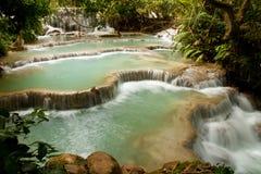 Waterfall. Kuang Si Waterfall, Luang prabang, Laos Royalty Free Stock Photos
