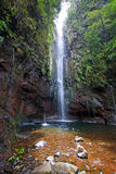 Waterfall. On madeira island, portugal Stock Image