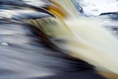 Waterfall. In Keila, Estonia. winter time. long exposure Royalty Free Stock Photos