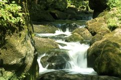 Waterfall -2. Closeup of waterfall between rocks stock image