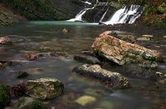 Waterfall 2. Waterfall, 1 sec. exposure Stock Photos