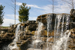 Waterfall 2. This is a great landscaping job in this garden, with this waterfall as a focal point stock photo