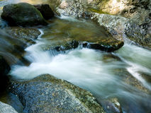 Waterfall. Water flowing over rocks at Sculpture Rocks State Park, NH royalty free stock images