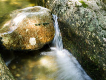 Waterfall. Water flowing over rocks at Sculpture rocks State Park, NH royalty free stock photo