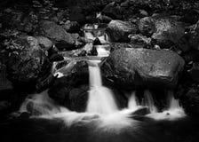 Waterfall. Beautiful waterfall in the rock stock image