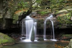 Waterfall. Photo of water fall in Beskydy Royalty Free Stock Images