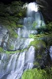 Waterfall. The night beautiful waterfall flow Royalty Free Stock Photo