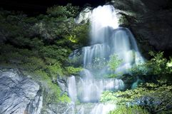 Waterfall. The night beautiful waterfall flow Royalty Free Stock Photography