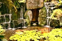 Waterfall. Man-made waterfall Stock Photo