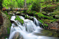 Waterfall. In the national park Sumava-Czech Republic Stock Photography