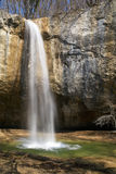 Waterfall. A waterfall in a mountain forest Stock Photo
