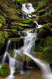 Waterfall. Cascading waterfall during spring located in Oil Creek State Park Royalty Free Stock Photography