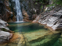 Waterfall. In portuguese national park Stock Image