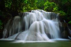Waterfall. Thailand Huai Mae Khamin Kanchanaburi Srisawad The Srinakarin Dam Royalty Free Stock Photos
