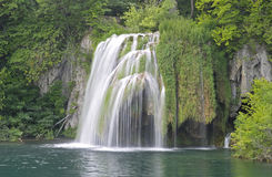 Waterfall. Plitvice lakes National Park, Croatia Royalty Free Stock Photo