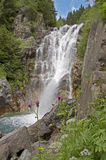 Waterfall. Vo' waterfall, Val di Scalve, Alps Mountains, Italy royalty free stock images