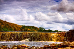 Waterfall. On the river Tosna. Russia Stock Image
