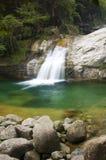 Waterfall. Green waterfall in huang san,china photo royalty free stock photo