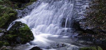Waterfall. A waterfall in the forest of Benxi, northeast China Royalty Free Stock Image