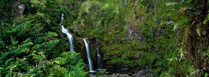 Waterfall. On the road to Hana, Maui, Hawai'i Royalty Free Stock Photography
