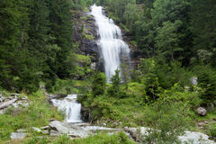 Waterfall. In a forest; Austria Royalty Free Stock Photography
