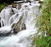 Waterfall. Chinas guizhou small seven holes of the waterfall Stock Photo