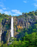 The waterfall. With the mountains in the country of Sri Lanka Stock Photos