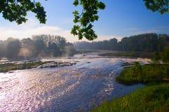 Waterfall. Ventas Rumba in Kuldiga, Latvia Stock Images
