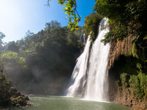 Waterfall. Thee Lor Sue Waterfall, north of Thailand Stock Photo