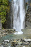 Waterfall. Beautiful waterfall in the forest in Westland Tai Poutini National Park, South Island, New Zealand Stock Image