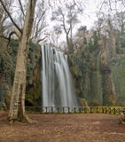 Waterfall. Small waterfall in the forest. Monasterio de piedra, Zaragoza, Spain Royalty Free Stock Photography
