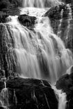 Waterfall. Black and white image of an Indian waterfall Royalty Free Stock Image