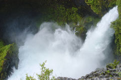 Waterfall. S, known as Huilo Huilo jumps in the Los Ríos Region. Chile Stock Photo