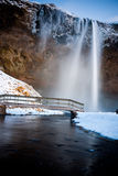 Waterfall. Beautiful and popular waterfall in Iceland Stock Photo