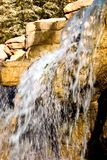 Waterfall. Closeup of waterfall with slow shutter speed stock photography