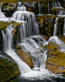 Waterfall. A small multi-tiered waterfall royalty free stock image