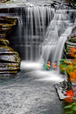 Waterfall. A small multi-tiered waterfall royalty free stock images